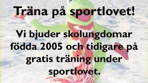 Träna gratis på sportlovet